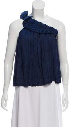 Ulla Johnson Pleated One-Shoulder Top w/ Tags