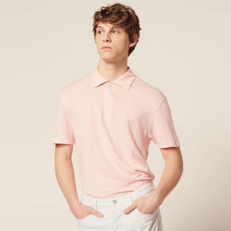 Sandro Short-Sleeved Linen Polo Shirt