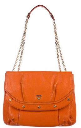 MCM Pebbled Leather Shoulder Bag