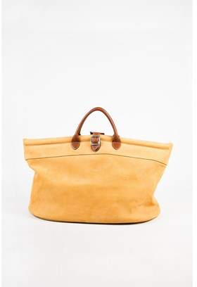 Longchamp Pre-owned Tan Brown Pebbled Leather Double Handle Tote Bag. - BROWN;TAN - STYLE