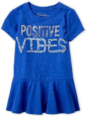 Jessica Simpson Girls 7-16) Positive Vibes Peplum Tee