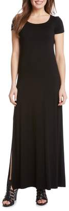 Karen Kane Cap Sleeve Jersey Maxi Dress