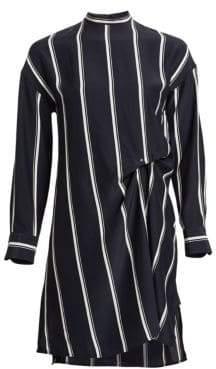Rag & Bone Jacklin Silk Asymmetric Striped Shift Dress