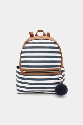 Ardene Nautical Stripe Backpack