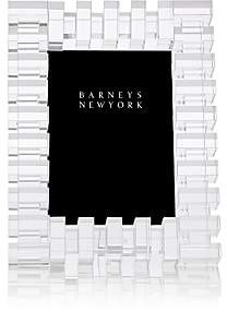 """Barneys New York Block-Pattern Crystal 5"""" x 7"""" Picture Frame"""