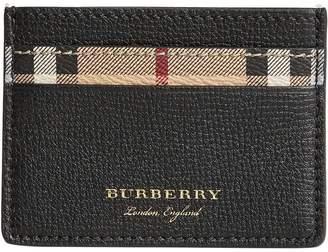 Burberry Haymarket check card case