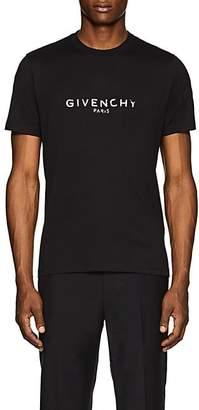 Givenchy Men's Logo-Print Cotton T-Shirt - Black