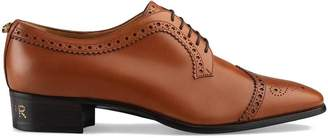 Gucci Leather lace-up with brogue detail