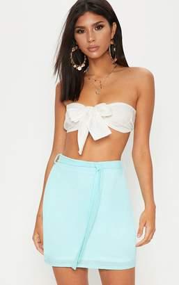 PrettyLittleThing Lemon Textured Mini Skirt