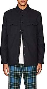Rag & Bone MEN'S JACK COTTON-WOOL INSULATED OVERSHIRT-NAVY SIZE L