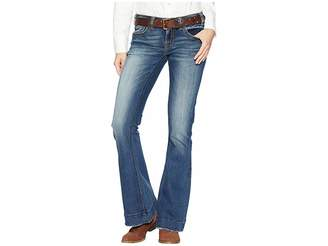 Rock and Roll Cowgirl Trouser Jeans in Dark Vintage W8-7683