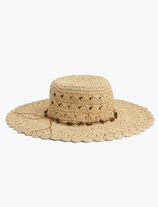 Open Weave Straw Hat $49.50 thestylecure.com