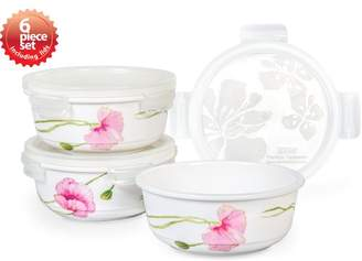Lock & Lock Sophie Round 3 Container Food Storage Set