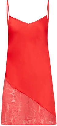 Sam Edelman Chemise with Assymetrical Lace