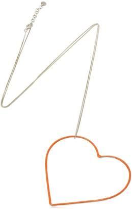 Seeme Untf Big Orange Heart Necklace
