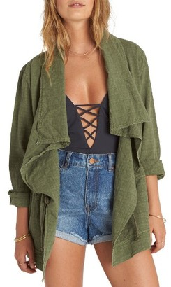 Women's Billabong Lost Then Found Draped Utility Jacket $89.95 thestylecure.com