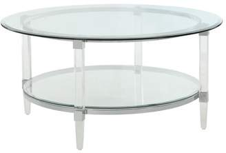 Acme Polyanthus Oval Coffee Table in Clear Acrylic and Glass