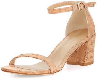 Stuart Weitzman Simple Cork Low City Sandals, Neutral