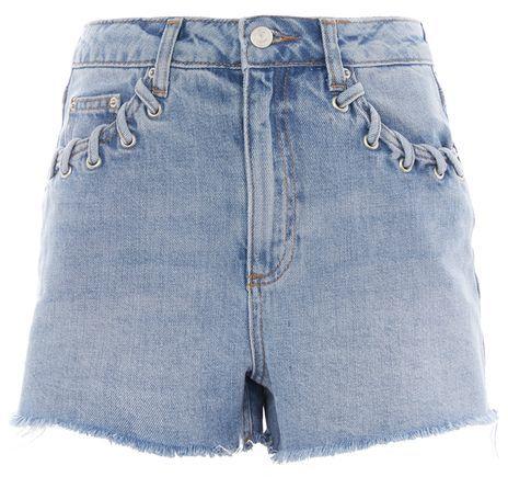 TopshopTopshop Moto whip stitch mom shorts