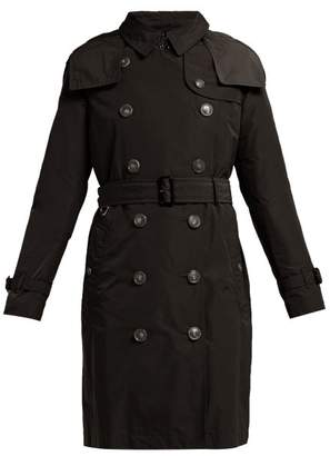 Burberry Kensington Gabardine Trench Coat - Womens - Black