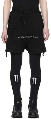 11 By Boris Bidjan Saberi Black Logo Lounge Shorts
