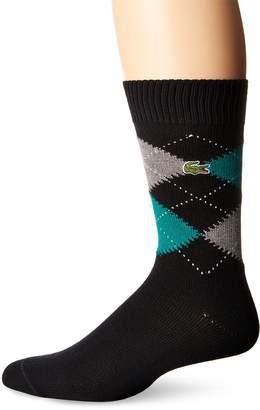 Lacoste Men's Argyle Sock, Black/Vendange/Chine Cach