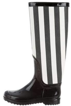 Dolce & Gabbana Striped Rain Boots