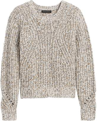 Banana Republic Petite Chunky Pointelle Cropped Sweater