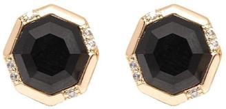Rachael Ryen Jewelry Octagon Onyx Studs $86 thestylecure.com