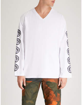 Obey Ninety One cotton-jersey top