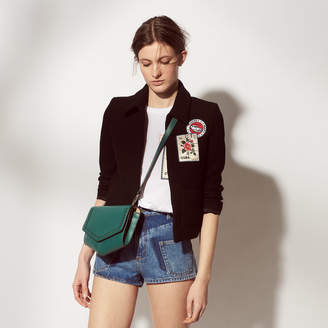 Sandro Jacket with Cuba-inspired patches
