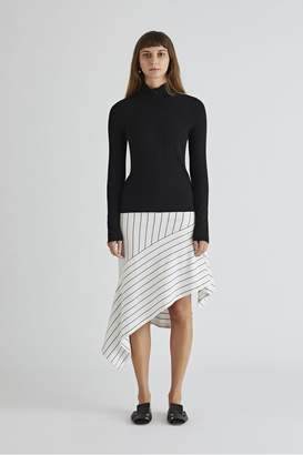 Rosetta Getty Long Sleeve Zip Up Turtleneck