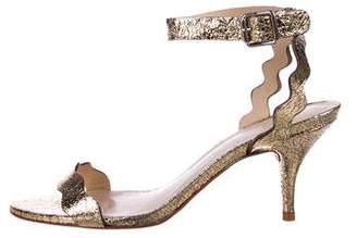 Loeffler Randall Metallic Scalloped Sandals