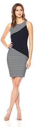 Tommy Hilfiger Women's Mini Stripe Solid Knit Sheath