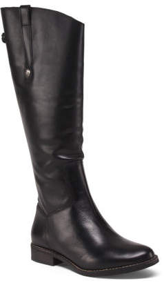 Made In Brazil Wide Knee High Leather Boots
