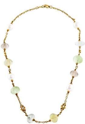 Judith Ripka 18K Multistone, Pearl & Diamond Necklace