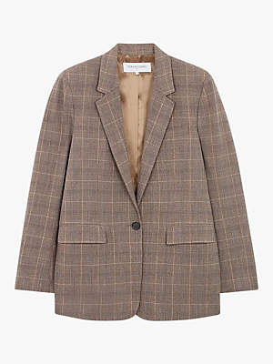 Stella Check Jacket, Camel
