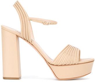 Casadei open toe platform sandals $629.02 thestylecure.com