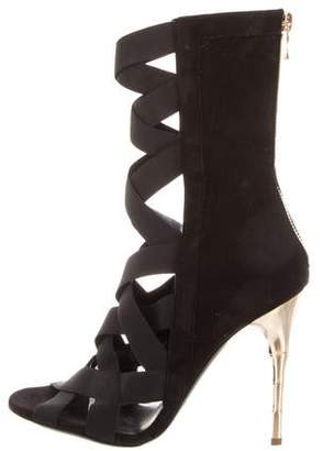 Balmain Suede Tali Sandals