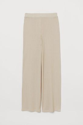 H&M Ribbed Pants - Beige