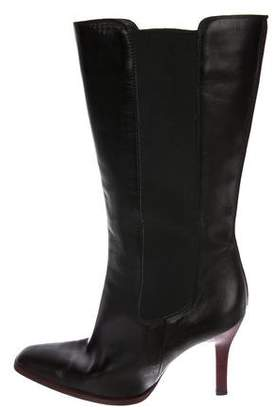 Tod's Leather Mid-Calf Boots