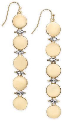 INC International Concepts I.N.C. Gold-Tone Crystal & Circle Linear Drop Earrings, Created for Macy's
