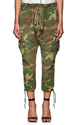 Greg Lauren Women's Camouflage Cotton Ripstop Lounge Pants
