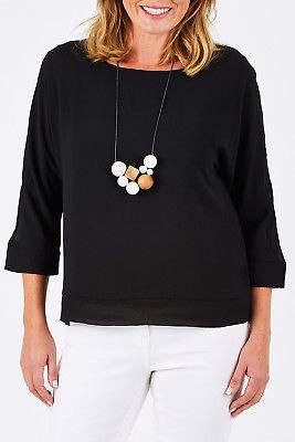 NEW Threadz Womens Blouses Layer Top