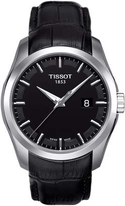 Tissot Couturier Leather Strap Watch, 39mm