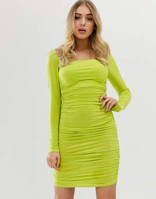 7c41bf35ae4 Club L London long sleeve square neck mini dress