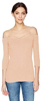 William Rast Women's Prairie Strappy Cold Shoulder Tunic Top