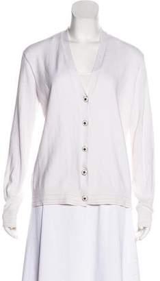 Tory Burch Long Sleeve Button-Up Cardigan