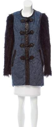 Rag & Bone Quilted Leather-Trimmed Coat
