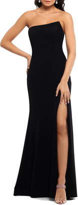 Xscape Evenings Strapless Scuba Crepe Mermaid Gown